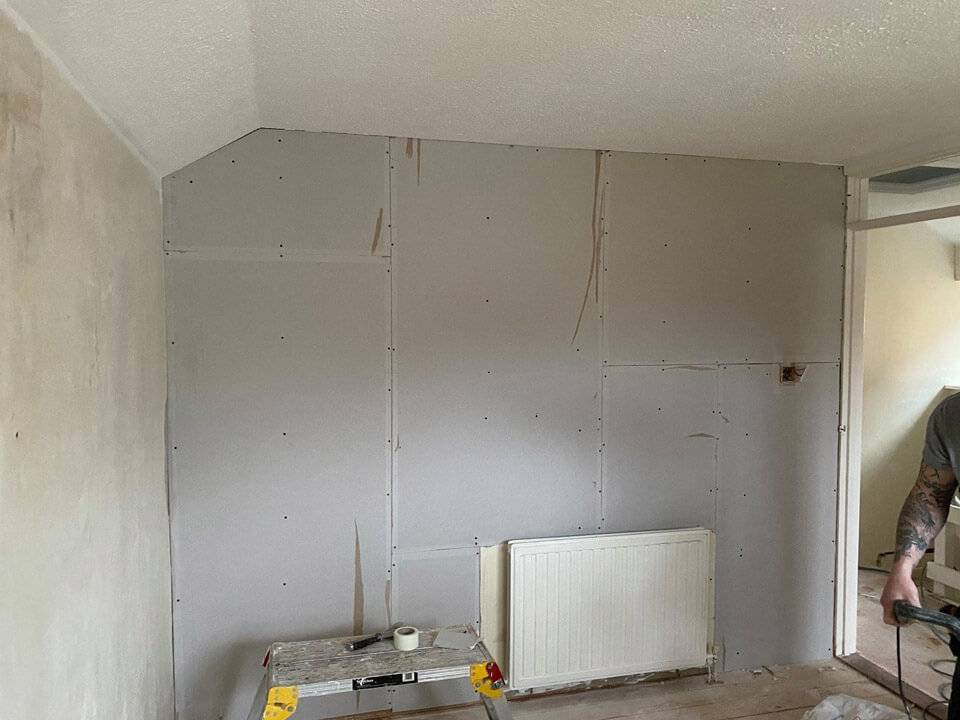 plasterboard room